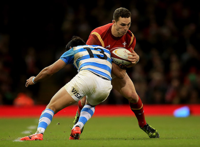 CARDIFF, WALES - NOVEMBER 12:  George North of Wales is tackled by Matias Orlando of Argentina during the International Match between Wales and Argentina at Principality Stadium on November 12, 2016 in Cardiff, Wales.  (Photo by Ben Hoskins/Getty Images)