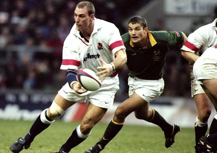 5 Dec 1998: Lawrence Dallaglio of England in action during a match against South Africa at Twickenham in London, England. England won the game 13-7. Mandatory Credit: David Rogers /Allsport